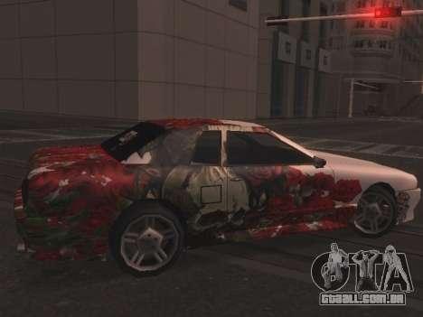 New Elegy Paintjob para GTA San Andreas esquerda vista