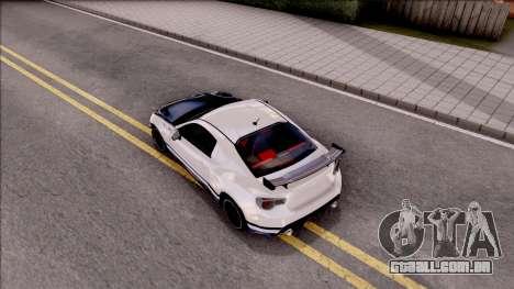 Toyota GT86 Tofu Shop para GTA San Andreas vista traseira