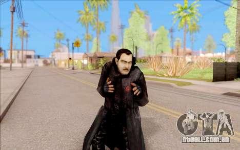 Capitão Sobolev do S. T. A. L. K. E. R. para GTA San Andreas quinto tela