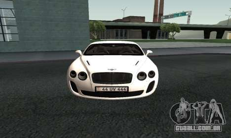 Bentley Continental GT Armenian para GTA San Andreas