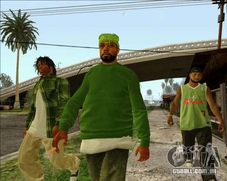 Grove Street Family HQ Skins para GTA San Andreas