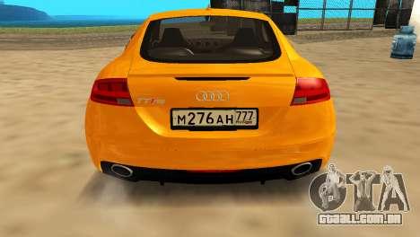 Audi TT RS Afonya TV para GTA San Andreas traseira esquerda vista