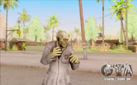 Zombie cientista do S. T. A. L. K. E. R. para GTA San Andreas quinto tela