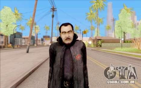 Capitão Sobolev do S. T. A. L. K. E. R. para GTA San Andreas segunda tela
