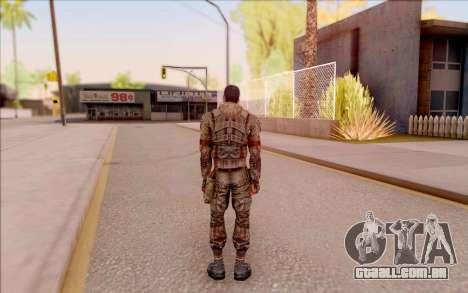 Zombie Degtyarev do S. T. A. L. K. E. R. para GTA San Andreas por diante tela