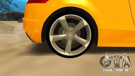 Audi TT RS Afonya TV para GTA San Andreas vista interior