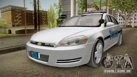Chevrolet Impala 2011 Police para GTA San Andreas