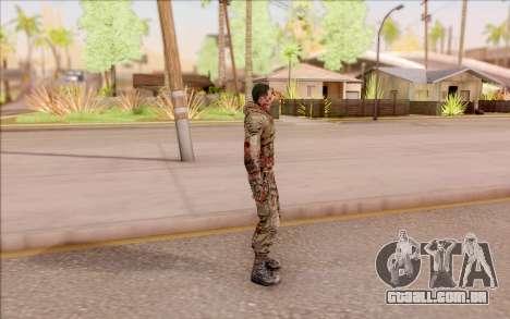 Zombie Degtyarev do S. T. A. L. K. E. R. para GTA San Andreas terceira tela