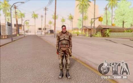 Zombie Degtyarev do S. T. A. L. K. E. R. para GTA San Andreas segunda tela