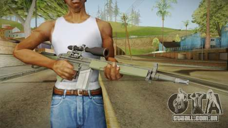 CS-GO - SG1 Sniper Rifle para GTA San Andreas terceira tela