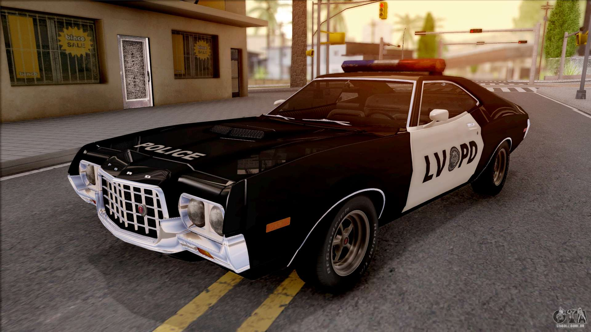 ford gran torino police lvpd 1972 v3 para gta san andreas. Black Bedroom Furniture Sets. Home Design Ideas