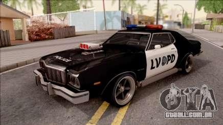 Ford Gran Torino Police LVPD 1975 v3 para GTA San Andreas