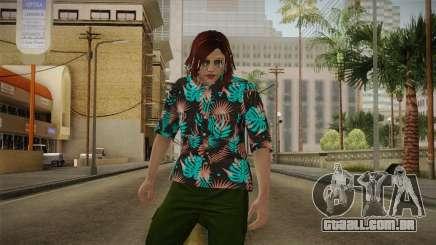 DLC Smuggler Female Skin para GTA San Andreas
