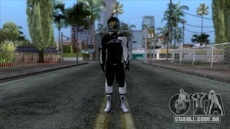 Motorcyclist Skin para GTA San Andreas segunda tela