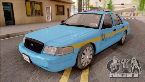 Ford Crown Victoria 2010 Iowa DOT MVE para GTA San Andreas