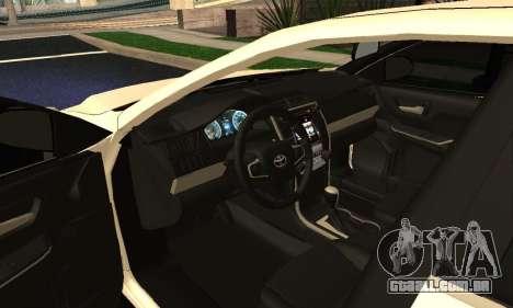 Toyota Camry 2016 Armenian para GTA San Andreas vista interior
