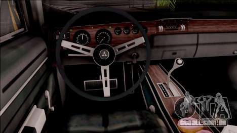 Dodge Charger RT 1970 para GTA San Andreas vista interior