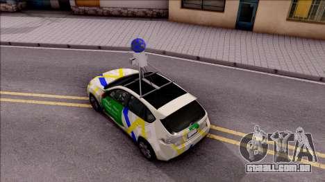 Subaru Impreza Google Street View Car para GTA San Andreas vista traseira
