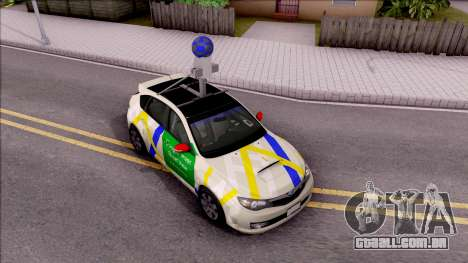 Subaru Impreza Google Street View Car para GTA San Andreas vista direita