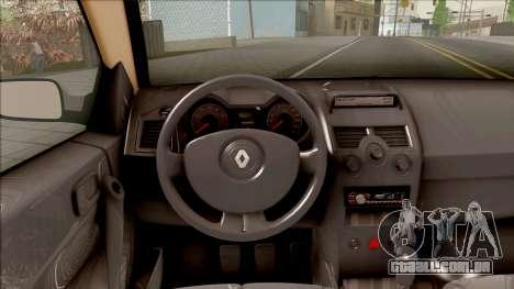 Renault Megane 2 HB Privilege para GTA San Andreas vista interior