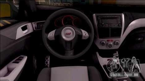 Subaru Impreza Google Street View Car para GTA San Andreas vista interior