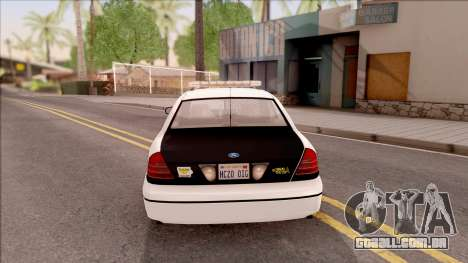 Ford Crown Victoria 2007 West Des Moines PD para GTA San Andreas traseira esquerda vista