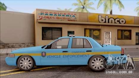 Ford Crown Victoria 2010 Iowa DOT MVE para GTA San Andreas esquerda vista