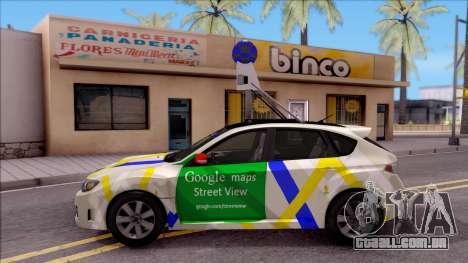 Subaru Impreza Google Street View Car para GTA San Andreas esquerda vista