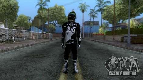 Motorcyclist Skin para GTA San Andreas terceira tela