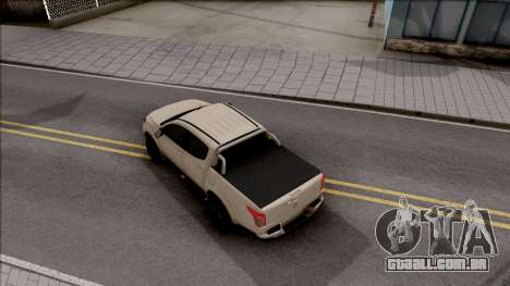 Mitsubishi L200 Triton para GTA San Andreas vista traseira