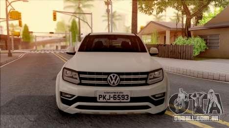 Volkswagen Amarok 4Motion 2017 para GTA San Andreas vista interior