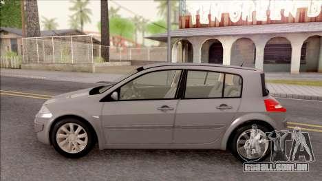 Renault Megane 2 HB Privilege para GTA San Andreas esquerda vista