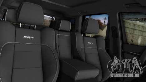 Jeep SRT 8 TrackHawk para GTA San Andreas vista interior
