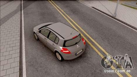 Renault Megane 2 HB Privilege para GTA San Andreas vista traseira