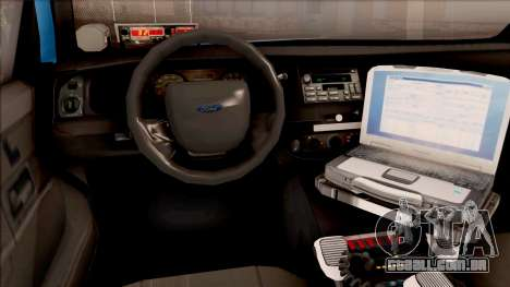 Ford Crown Victoria 2010 Iowa DOT MVE para GTA San Andreas vista interior