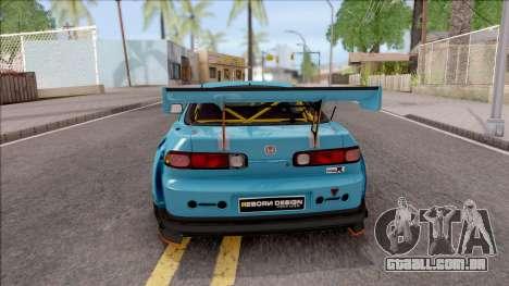 Honda Integra R Integranpa Concept para GTA San Andreas traseira esquerda vista