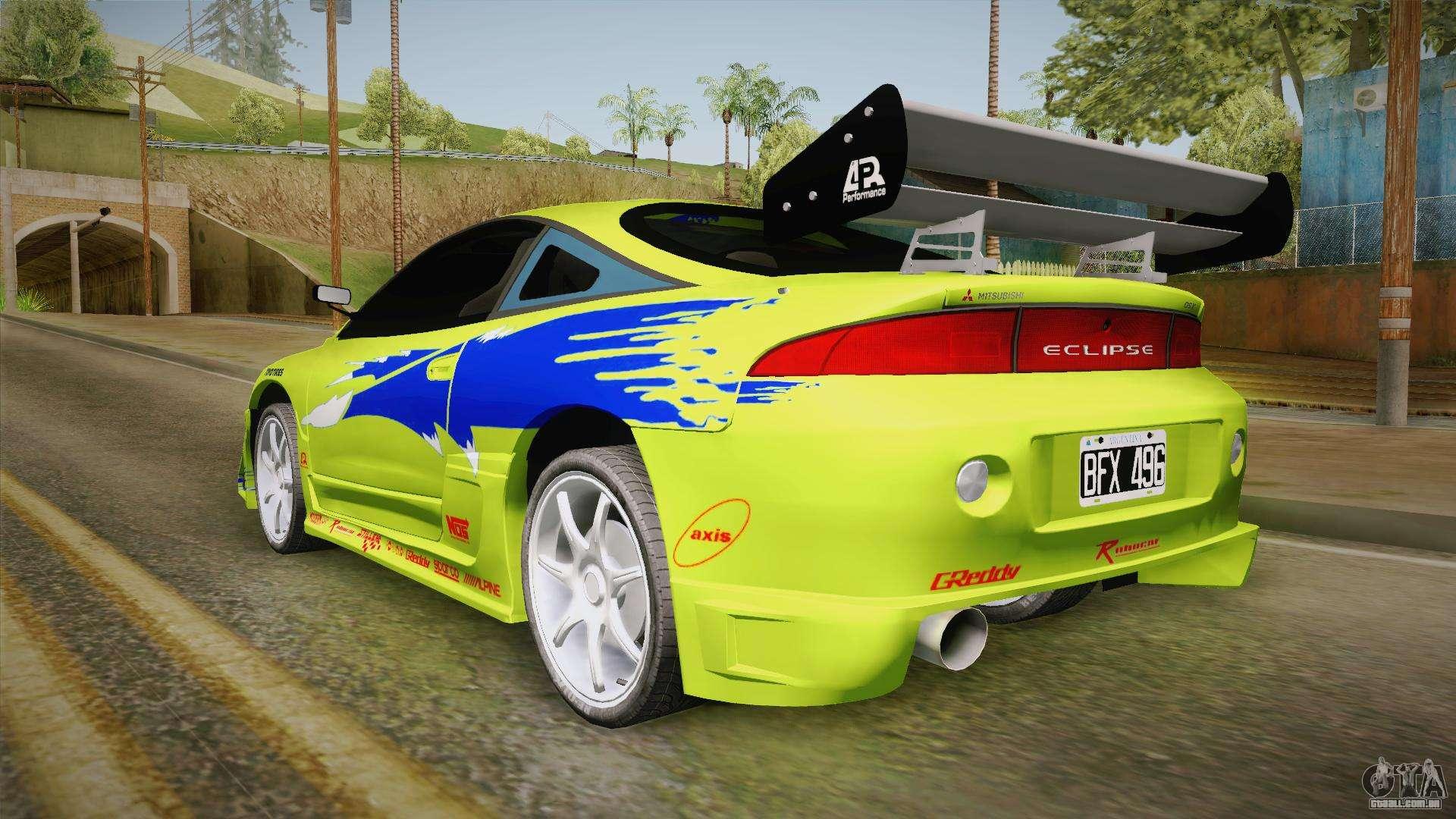 Mitsubishi Eclipse Gst 1997 Para Gta San Andreas