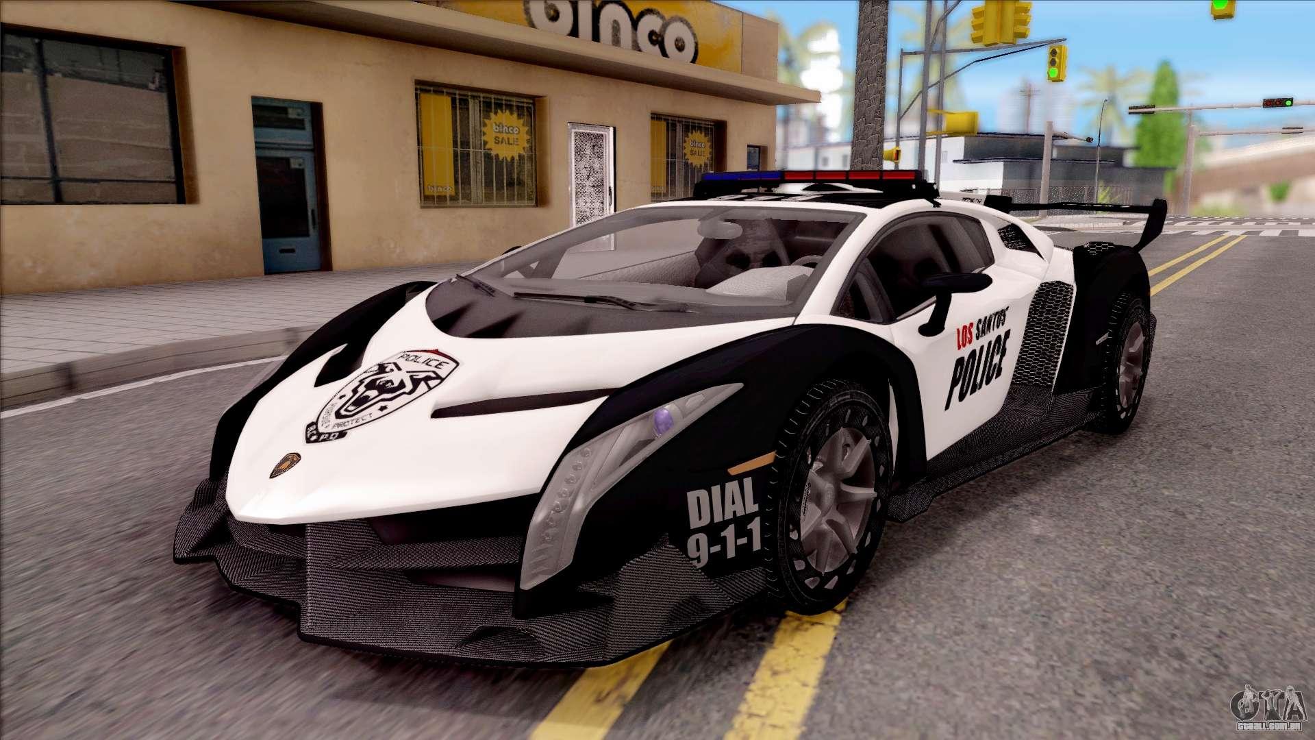 Lamborghini Veneno 2018 >> Lamborghini Veneno Police Los Santos para GTA San Andreas