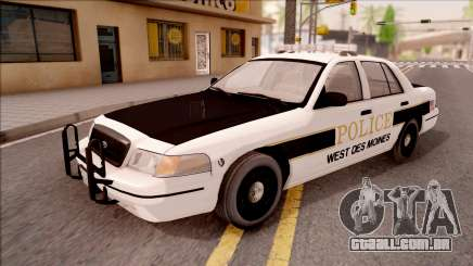 Ford Crown Victoria 2007 West Des Moines PD para GTA San Andreas