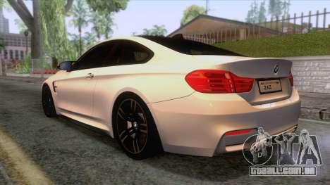 BMW M4 GTS High Quality para GTA San Andreas esquerda vista