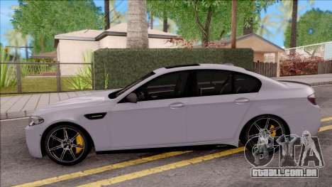 BMW M5 F10 M Performance para GTA San Andreas esquerda vista