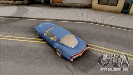Driver PL Cerva para GTA San Andreas vista traseira