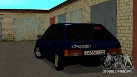 VAZ 2109 para o original para GTA San Andreas traseira esquerda vista