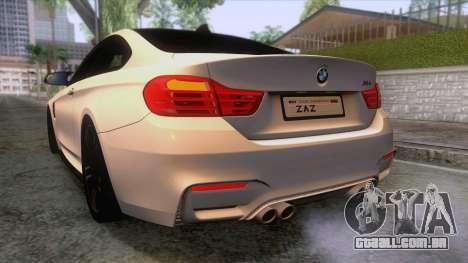 BMW M4 GTS High Quality para GTA San Andreas interior