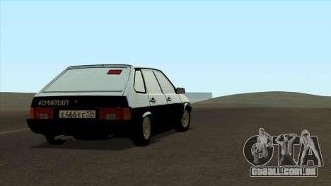 VAZ 2109 para o original para GTA San Andreas esquerda vista