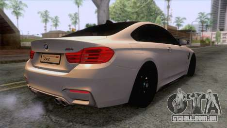 BMW M4 GTS High Quality para GTA San Andreas vista direita