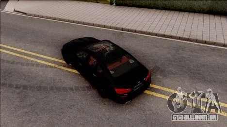 BMW M5 F10 Nighthawk para GTA San Andreas vista traseira