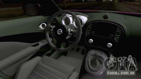 Nissan Juke Nismo RS 2014 para GTA San Andreas vista interior