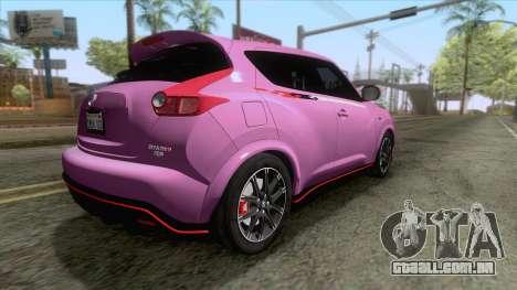 Nissan Juke Nismo RS 2014 para GTA San Andreas esquerda vista
