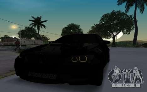BMW M3 E92 GTR Black Camo para GTA San Andreas esquerda vista